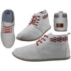 """W010001L-W Wholesale Women's """"EasyUSA"""" Hi-Top Canvas Shoes ( *White Color )"""