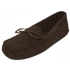 "W080003-T Wholesale Women's ""EasyUSA"" Insulated Leather Upper Moccasins Shoes ( *Brown Color )"