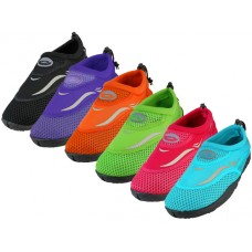 "W1182L-A- Wholesale Women's ""Wave"" Water Shoes ( *Asst. Gray. Purple, Green, Fuchsia, Blue & Orange )"