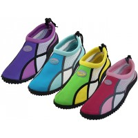 "W1183L-A - Wholesale Women's ""Wave"" Multi Color Water Shoes ( *Asst. Fuchchia/Pink, Blue/Lt. Blue, Purple/Lt. Purple And Lime/Yellow )"