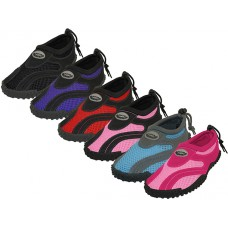 "W1185L-A Wholesale Women's ""Wave"" Active Water Shoes ( *Asst. Black, Fuchsia, Pink, Purple, Red And Gray/Blue ) *Available In Single Size"