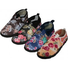 "W1196-A - Wholesale Women's ""Wave"" Floral Printed ""Wave"" Water Shoes ( *Asst. Floral Print )"