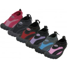 "W2285L-A - Wholesale Women's ""Wave"" Barefoot Water Shoes.  ( *Asst. Black, Pink, Red, Fuchsia, Purple And Lt. Blue )"