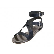 "W5601L-B - Wholesale Women's ""EasyUSA"" Ankle Height Cross Strap Sandals ( *Black Color )"