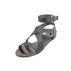 W5601L-G - Wholesale Women's Ankle Height Cross Strap Sandals ( *Gey Color )