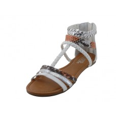 W5701L-W - Wholesale Women's Braided Gladiator Sandals ( *White Color )