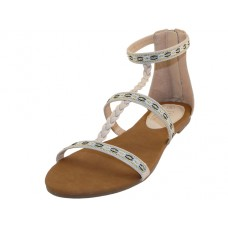 W6500L-C Wholesale Women's Braid Gladiator Sandals ( *Beige Color )