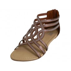 W7800L-Z - Wholesale Woman's Rhinestone Sandals ( *Black, Rose Gold & Bronze )