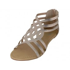W7800L-RG Wholesale Women's Rhinestore Sandals ( *Rose Gold Color )