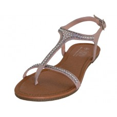 W8303L-RG Wholesale Women's Rhinestones Thong Sandals ( *Rose Gold Color )