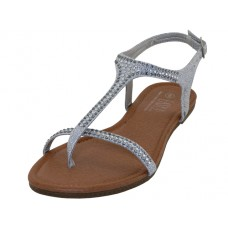 W8303L-S Wholesale Women's Rhinestone Thong Sandals (*Silver Color )