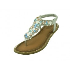 "W8808L-S Wholesale Women's "" EasyUSA "" Rhinestone Upper Sandals ( *Silver Color )"