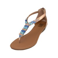 W8901 - Wholesale Lady Rhinestone Sandals With Back Zipper