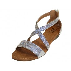 W8906L-S - Wholesale Women's Rhinestone Sandals ( *Silver Color )