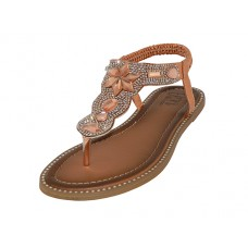 W8908L-RG - Wholesale Women's Rhinestone Upper Sandals ( *Rose Gold Color )