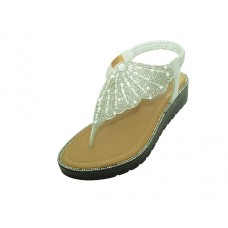 "W9708L-S Wholesale Women's "" EasyUSA"" Rhinestone Upper  Sandals ( *Silver Color )"