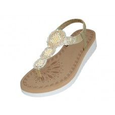 "W9802L-RG - Wholesale Women's ""EasyUSA"" Super Soft Rhinestone Upper Sandals (*Rose Gold Color )"