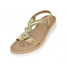 "W9805L-RG - Wholesale Women's ""EasyUSA"" Super Soft Rhinestone Upper Sandals (*Rose Gold Color )"