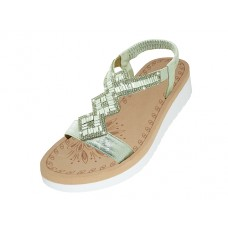 "W9805L-S - Wholesale Women's ""EasyUSA"" Super Soft Rhinestone Upper Sandals (*Silver Color)"
