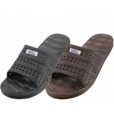 "W9928L-A - Wholesale Women's ""EasyUSA"" Soft Rubber Slide Open Toe Sandals ( *Asst. Black & Brown )"