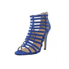 "XENA-01- Wholesale Women's ""Mixx Shuz"" High Heel Ankle Height Sandals ( Cobalt Blue Color ) *Last Case"