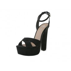"YOLANDA-01-BK Wholesale Women's ""Mixx Shuz"" High Heel Ankle Strip Sandals ( *Black Color )"