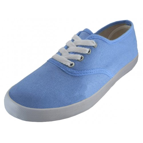 24 pairs wholesale womens sky blue canvas shoes sneakers